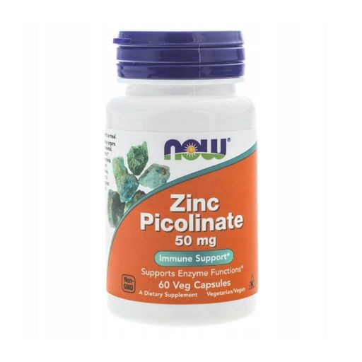 NOW Zinc Picolinate Пиколинат Цинка, 50 мг, капсулы, 60 шт. цена